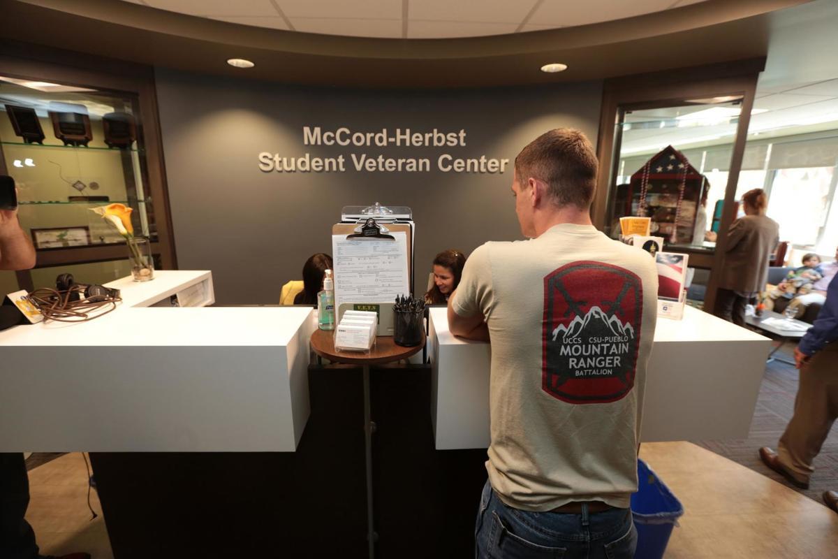 Veteran Student at McCord-Herbst Student Veteran's Center